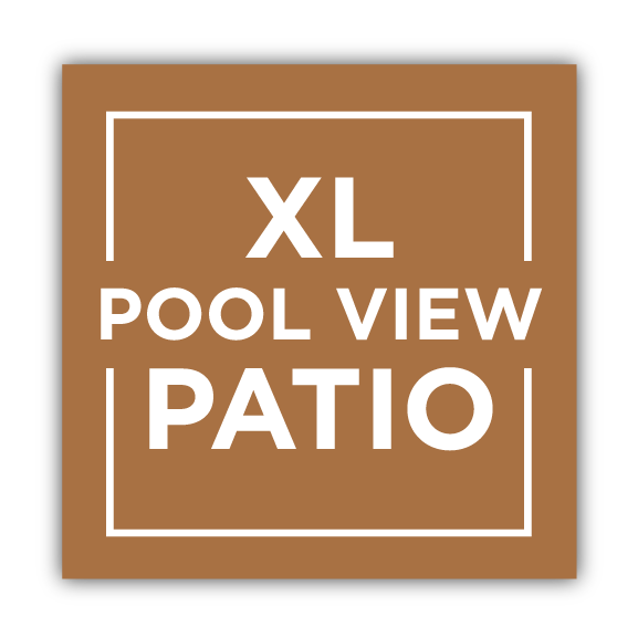 Extra large pool view patio